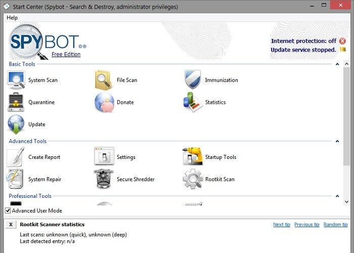 Resultado de imagen de Spybot-Search & Destroy