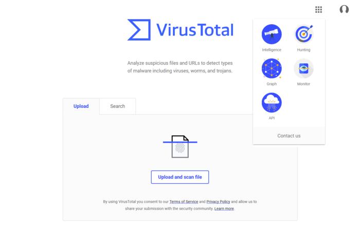 VirusTotal antivirus online